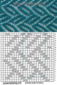 узор спицами 522 | каталог вязаных спицами узоров | Узоры спицами | Постила