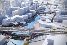 Santiago Calatrava Designs 3 New Bridges for Huashan