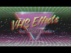 "Make footage look like an analog VHS tape in After Effects with the ""Creation VHS Effects"" template from Creation Effects."