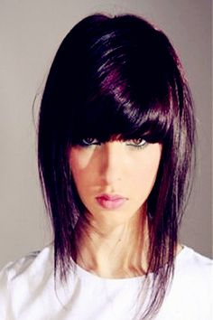 2013 Hairstyle Trends - Shorter Style - Oh wow someone actually has my crazy bangs?!