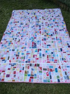 Ticker Tape Quilt, made in individual blocks