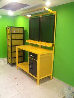 mesa banco de trabajo industrial electronica moduplastic