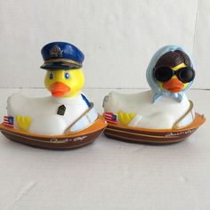 2 Rubba Duck Mr. and Mrs. Quack Craft Rubber Duck Good Condition | eBay
