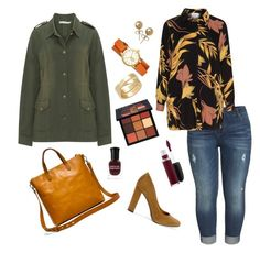 """""""Plus size fall outfit"""" by marjolaineetvous on Polyvore featuring mode, KUT from the Kloth, New Look, Madewell, Tory Burch, Bling Jewelry, Huda Beauty, Deborah Lippmann et Cartier"""
