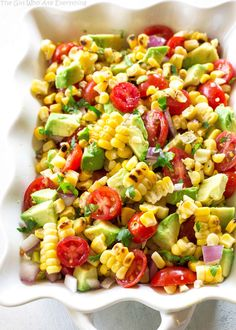 Corn, Avocado, and T