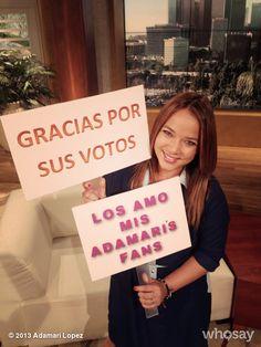 """Adamari López's, photo,""""Gracias a los #AdamariFans somos finalistas en la categ…"""""""