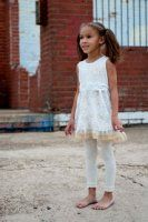 "Zaza couture ""White dreams tunic legging set"""