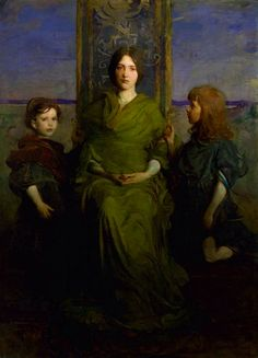 Abbott Handerson Thayer - The Virgin Enthroned (1891) Children's Artist (Oil on Canvas) Thayer (Boston, USA 1849-1921)