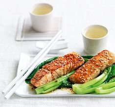 Miso Salmon with Choy Sum | MiNDFOOD
