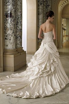 david tutera spring 2012  A little much, but I love the corset!