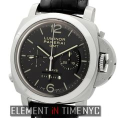 Element In Time | Officine Panerai Luminor Collection PAM 275 Luminor 1950 8-Day Power Reserve Monopulsante GMT ($13,475.00)