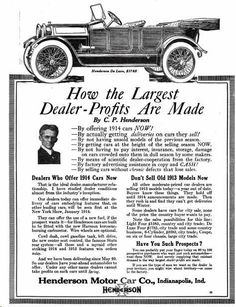 1913 Henderson Automobile Advertisement