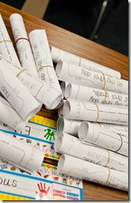 Kids time capsules- love this idea. Record of who they are when they start school. Could be looked at and added to each year.