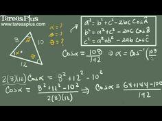 Teorema del coseno ejemplo 5 (tres lados)