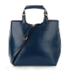 Ladies Extra Large Leather Hand Bag | Navy — Linens Range