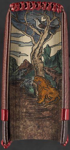 Hidden Fore-Edge Painting | Book title: Hans Sachsens ausgewahlte werke