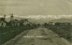 El Monte Way,  Dinuba, CA.   Circa 1907.    I  think that this photo  was taken near the present day corner of El Monte Way and J Street.