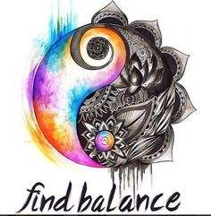 Balance is key ✌️! #bepresent #liveinthenow