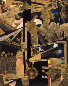 """""""Dada Panorama"""" Collage, by Hannah Höch. She was the only woman to take part in the First International Dada Fair in July Tristan Tzara, Dada Collage, Collage Artists, Collages, Photomontage, Dadaism Art, Piet Mondrian, Hannah Hoch Collage, Hannah Höch"""