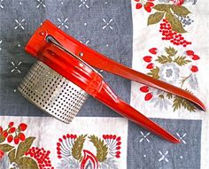 Red Potato Ricer Home Decor Farm House Kitchen by dottirosestudio, $8.95