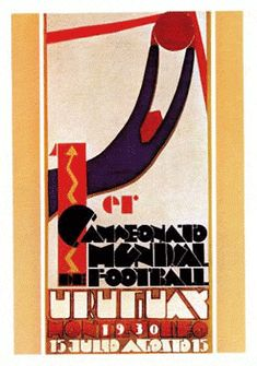 1930 World Cup in Uruguay 1930 Fifa World Cup, World Cup 2014, First World Cup, World Cup Final, Football Fonts, Football Posters, Sports Posters, Retro Football, Football Art