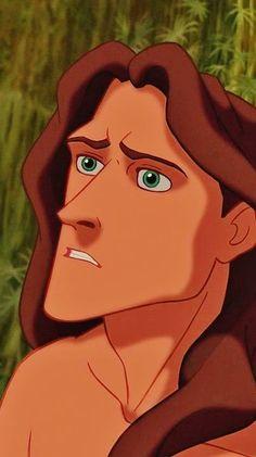 Tarzan -- He is probably my favorite male Disney character. Plus this is my fav disney movie Tarzan Disney, Disney Pixar, Disney Animation, Disney Men, Disney Films, Disney And Dreamworks, Disney Cartoons, Animation Movies, Funny Disney