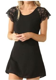 Eliacher Women's Casual Chiffon Lace Summer Dress (XXL, 1) | Joana's Goodies
