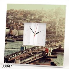 Istanbul Clock Mirror Galata Bridge Tower Turkey Art Fan Gift Wall Decor Watch #IKEA #Modern