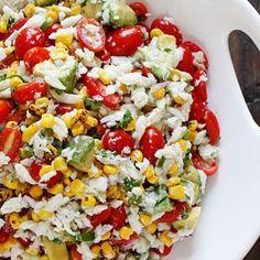 Summer Tomatoes, Corn, Crab And Avocado Salad...mmmm