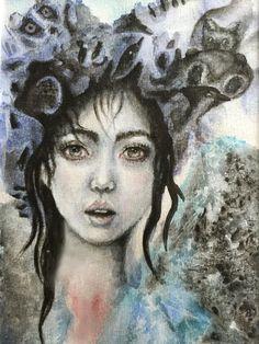 Magical, watercolor