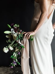 Benjamin Holtrop Photography; bridal bouquet by Moss Floral
