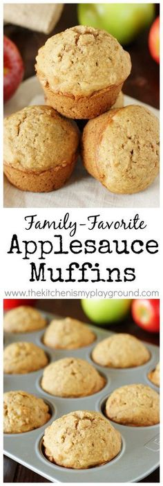 Muffins ~ our family-favorite muffin! Perfect for Fall {or anytime} breakfasts & snacks.Applesauce Muffins ~ our family-favorite muffin! Perfect for Fall {or anytime} breakfasts & snacks. Muffins Blueberry, Zucchini Muffins, Breakfast Snacks, Breakfast Recipes, Cupcakes, Applesauce Muffins, Muffin Tin Recipes, Cupcake Recipes, Good Food
