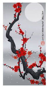 Create a Japanese Ukiyo-e Style Print - Tuts+ Design & Illustration Tutorial Japanese Drawings, Japanese Artwork, Japanese Prints, Flowers Illustration, Illustration Styles, Style Oriental, Oriental Design, Asian Artwork, Flower Drawing Tutorials