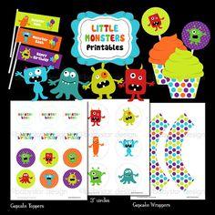 Little Monster Printables by babystardesign on Etsy