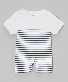Another great find on #zulily! Sitara Stripes Organic Short Sleeve Romper - Infant by land of looms #zulilyfinds
