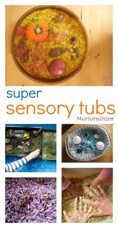 Really ideas for how to make sensory tubs for babies, toddlers and big kids. | NurtureStore :: inspiration for kids