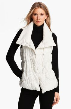 Eileen Fisher Weather Resistant Down Vest available at #Nordstrom