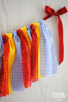 Dorothy Wizard of Oz Fabric Tie Garland