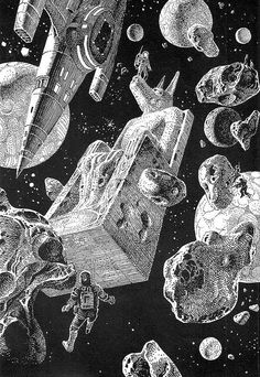 The hallucinatory operators are real Drawings by Moebius (Jean Giraud) Title: William Burroughs Jean Giraud, Moebius Art, Moebius Comics, 70s Sci Fi Art, Art Et Illustration, Astronaut Illustration, Science Fiction Art, Black And White Drawing, Retro Futurism