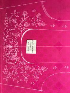 Sudhasri hemaswardrobe Peacock Embroidery Designs, Hand Embroidery Design Patterns, Embroidery Monogram Fonts, Hand Embroidery Videos, Hand Work Embroidery, Hand Work Blouse Design, Simple Blouse Designs, Jewelry Design Drawing, Blouses