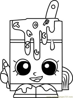 Alpha Soup Shopkins Coloring Page