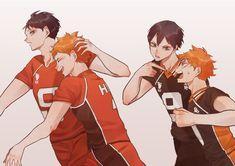 Haikyuu Ships, Haikyuu Fanart, Haikyuu Anime, Kageyama X Hinata, Haikyuu Karasuno, Haikyuu Volleyball, Volleyball Anime, Fanarts Anime, Manga Anime