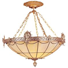 Art Deco Inspired Liberty Chandelier   From a unique collection of antique and modern chandeliers and pendants at https://www.1stdibs.com/furniture/lighting/chandeliers-pendant-lights/