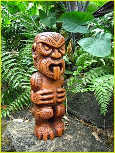 Tiki Totem Driftwood Sculpture, Garden Sculpture, Tiki Totem, Tiki Tiki, Tiki Hawaii, Tiki Statues, Bamboo Structure, Tiki Mask, Nz Art