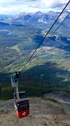 The Skyline gondola on its way up to The Whistlers in Jasper National Park. Fantastic view of the The Rockies, Canada Justin Trudeau, America And Canada, North America, Ottawa, Gondola, Travel Wall, Whistler, World Cultures, British Columbia