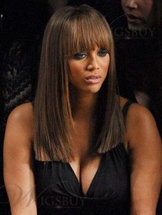 Keri Hilson Long Straight Brown Wig about 16 Inches Makes You Differernt