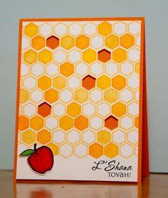 Items similar to Rosh Hashanah/Jewish New Year card with honeycomb theme on Etsy Rosh Hashanah Cards, Diy Tie Dye Shirts, Jewish Crafts, Jewish Celebrations, New Year Card, Diy Cards, Homemade Cards, Making Ideas, Hanukkah