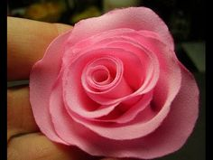 You will love making this rose from fabric that you have. You will need some kind of fabric any color will do, needle, cutter and some thread. Cloth Flowers, Fabric Roses, Pink Fabric, Diy Flowers, Paper Flowers, Fabric Flower Tutorial, Rose Tutorial, Diy Rose, Fabric Flower Headbands