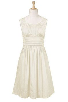 Pleat waist cotton dress // eshakti.com