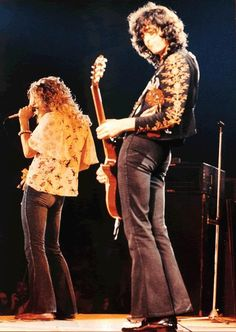 Plant and Page of Led Zeppelin